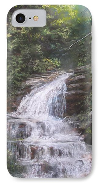 IPhone Case featuring the pastel Kent Falls by Jack Skinner