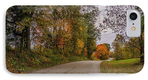 Kentucky County Lane In Fall IPhone Case