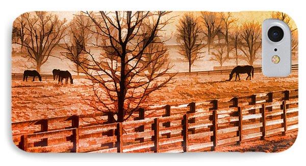 Kentucky Horse Farm  Phone Case by Dennis Cox WorldViews