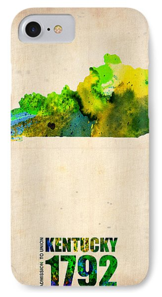Kentucky Watercolor Map IPhone Case