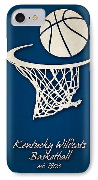 Kentucky Wildcats Basketball IPhone Case by Joe Hamilton
