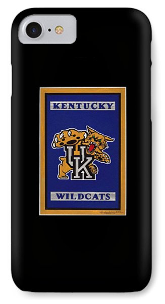 Ky Wildcats Logo T-shirt IPhone Case by Herb Strobino