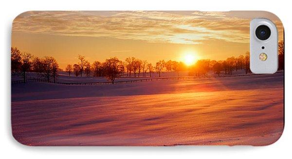 Kentucky Winter Sunrise Phone Case by Keith Bridgman