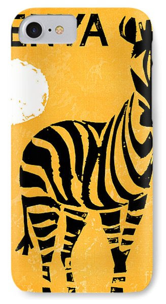 Kenya Africa Vintage Travel Poster Restored IPhone Case