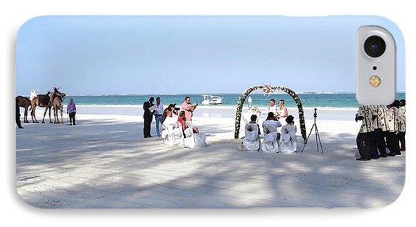 Kenya Wedding On Beach Wide Scene IPhone Case by Exploramum Exploramum