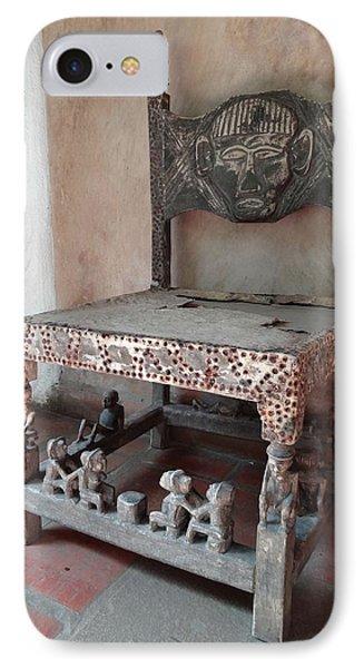 Kenyan African Antique Carved Chair IPhone Case by Exploramum Exploramum