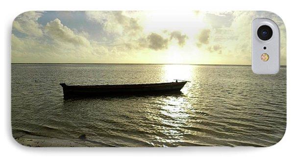 Kenyan Wooden Dhow At Sunrise IPhone Case by Exploramum Exploramum