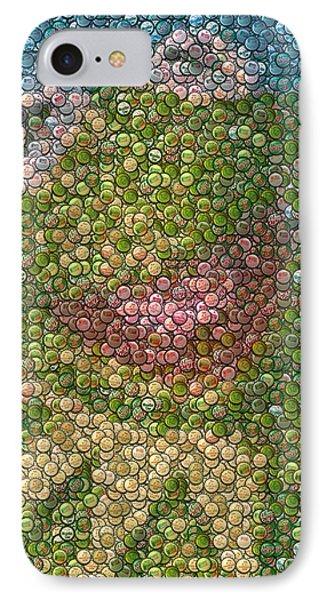 Kermit Mt. Dew Bottle Cap Mosaic Phone Case by Paul Van Scott