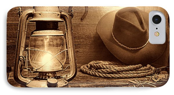 Kerosene Lantern IPhone Case by American West Legend By Olivier Le Queinec
