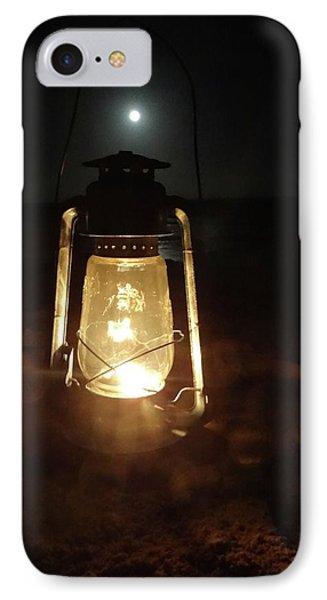 Kerosine Lantern In The Moonlight IPhone Case by Exploramum Exploramum