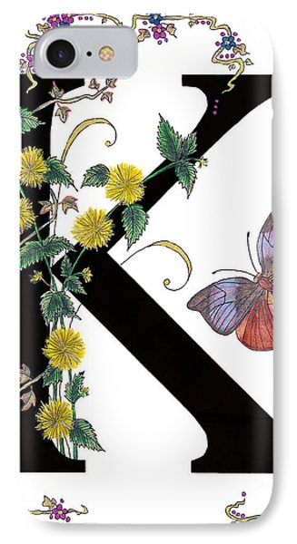 Kerria Japonica And Koh-i-noor Butterfly IPhone Case by Stanza Widen