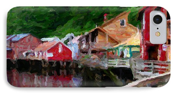 Ketchikan Alaska IPhone Case by David Hansen