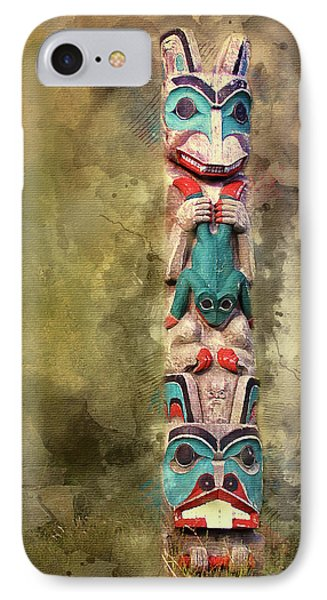 Ketchikan Alaska Totem Pole IPhone Case by Bellesouth Studio