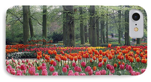 Keukenhof Garden, Lisse, The Netherlands IPhone 7 Case by Panoramic Images