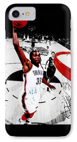 Kevin Durant Taking Flight IPhone Case by Brian Reaves