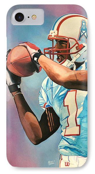 Kevin Dyson - Houston Oilers IPhone Case by Michael  Pattison
