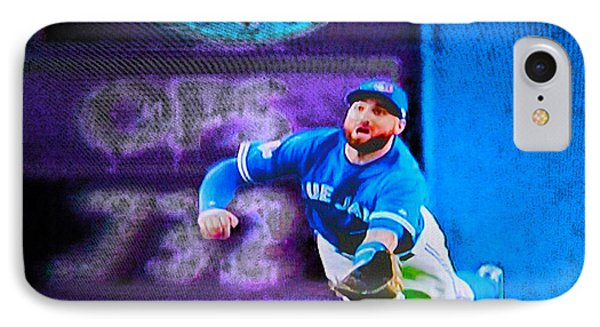Kevin Pillar In Action II IPhone Case by Nina Silver