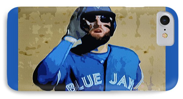 Kevin Pillar IPhone Case by Nina Silver