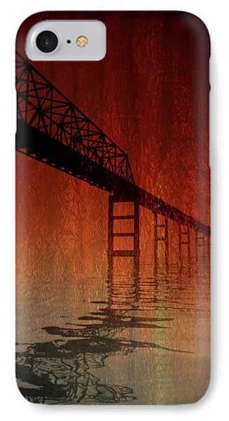 Key Bridge Artistic  In Baltimore Maryland IPhone Case by Skip Willits
