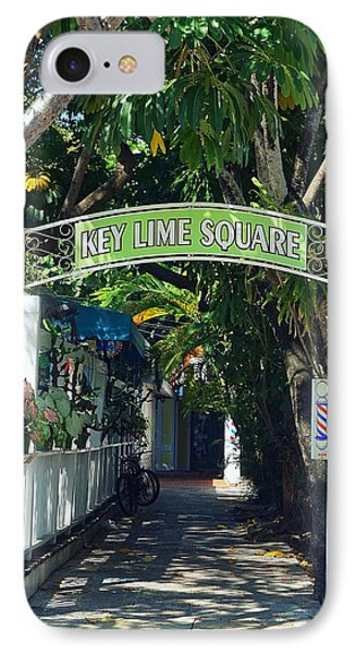 Key Lime Square IPhone Case by Laurie Perry