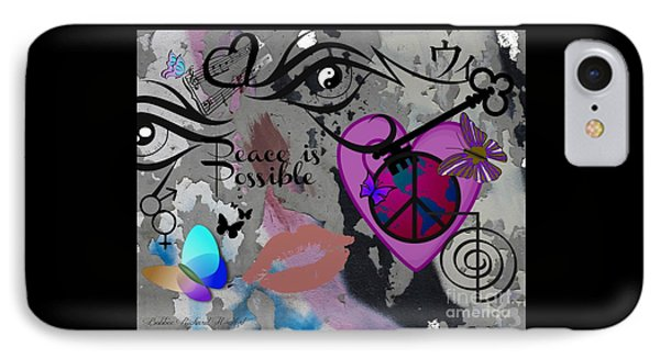 Key To Energy Of Peace  IPhone Case by Bobbee Rickard