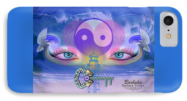 IPhone Case featuring the digital art Hope Is The Key To Balance Love And Peace by Barbara Tristan