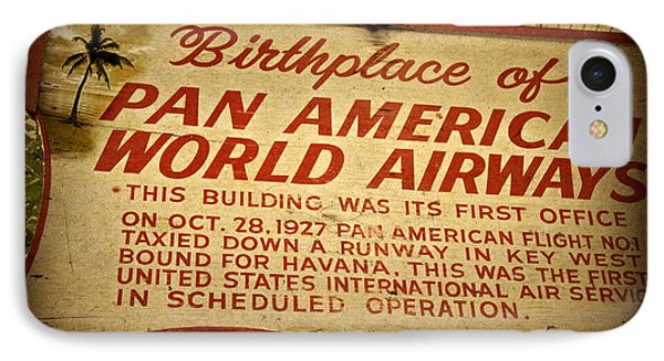 Key West Florida - Pan American Airways Birthplace Sign Phone Case by John Stephens