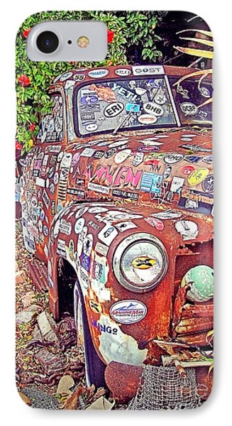Key West Junk Truck I IPhone Case by Chris Andruskiewicz