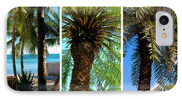 Key West Palm Triplets Phone Case by Susanne Van Hulst