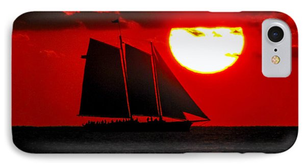 Key West Sunset Sail Silhouette IPhone Case
