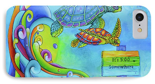 Key West Turtles Play IPhone Case