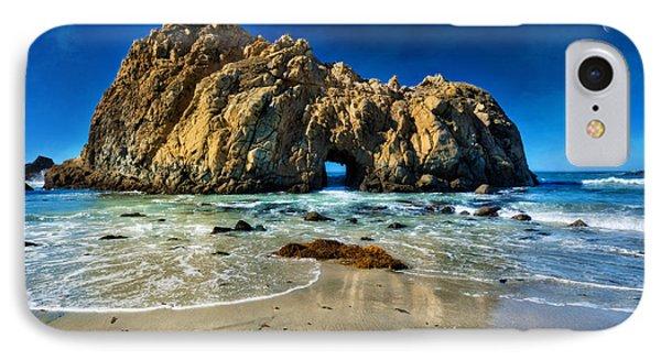 Keyhole Rock At Pheiffer Beach #12 - Big Sur, Ca IPhone Case by Jennifer Rondinelli Reilly - Fine Art Photography