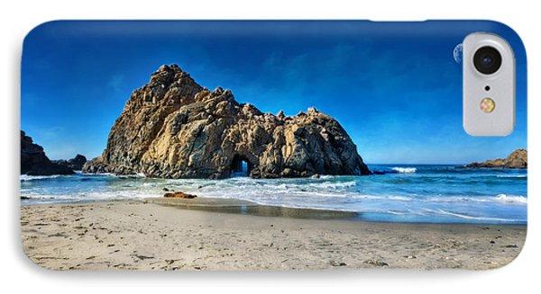 Keyhole Rock At Pheiffer Beach #14 - Big Sur, Ca IPhone Case by Jennifer Rondinelli Reilly - Fine Art Photography