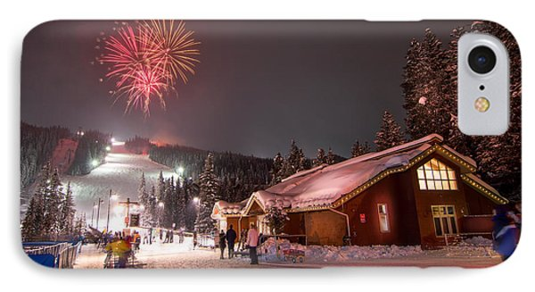 Keystone Resort Fireworks IPhone Case by Michael J Bauer