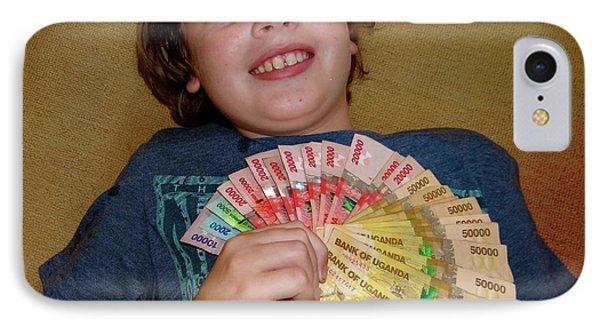 Kid With Money IPhone Case by Exploramum Exploramum