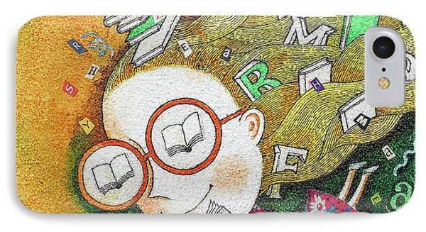 Kids And Books IPhone Case by Leon Zernitsky
