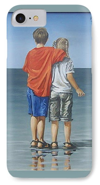 IPhone Case featuring the painting Kids by Natalia Tejera