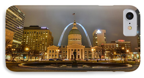 Kiener Plaza And The Gateway Arch IPhone Case