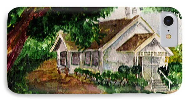 IPhone Case featuring the painting Kihei Chapel by Eric Samuelson