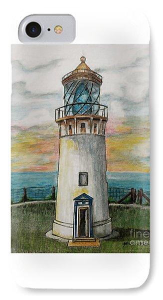 Kilauea Lighthouse IPhone Case by Linda Simon