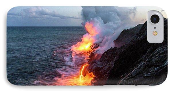 Pele iPhone 7 Case - Kilauea Volcano Lava Flow Sea Entry 3- The Big Island Hawaii by Brian Harig