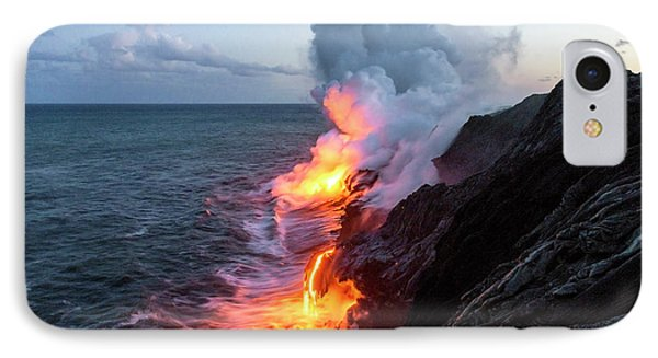Kilauea Volcano Lava Flow Sea Entry 3- The Big Island Hawaii IPhone Case by Brian Harig