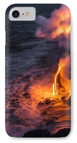 Kilauea Volcano Lava Flow Sea Entry 6 - The Big Island Hawaii IPhone Case