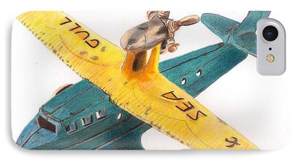 Kilgore Sea Gull Airplane Phone Case by Glenda Zuckerman