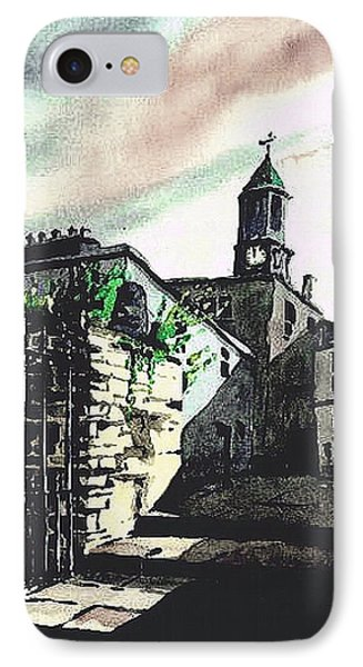 Kilkenny City  Clocktower Laneway  IPhone Case by Val Byrne
