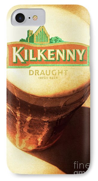 Kilkenny Draught Irish Beer Rusty Tin Sign IPhone Case by Jorgo Photography - Wall Art Gallery