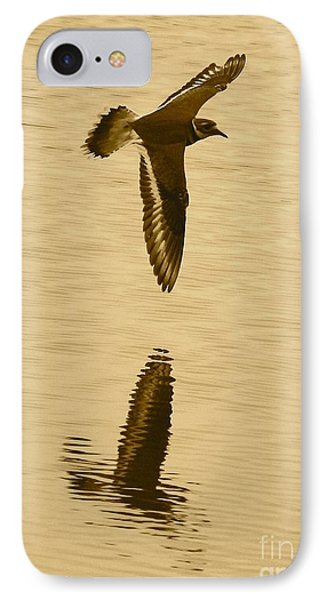 Killdeer Over The Pond IPhone Case by Carol Groenen