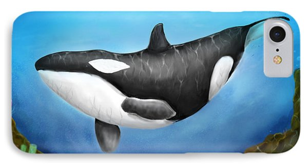 Killer Whale IPhone Case by Christian Lopez