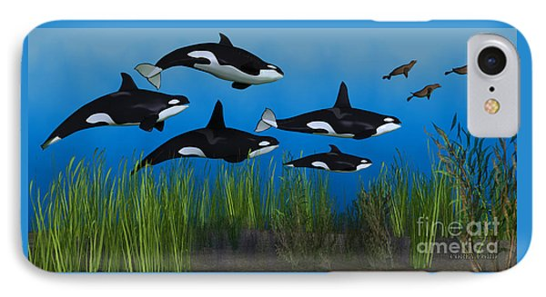 Killer Whale Pod Phone Case by Corey Ford