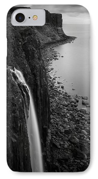 Kilt Rock Waterfall IPhone Case by Dave Bowman